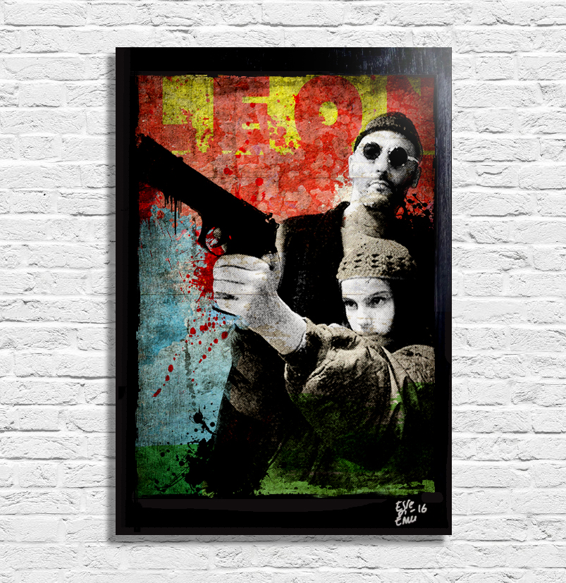 Leon and Mathilda from Luc Besson film LEON quadro poster canvas artwork