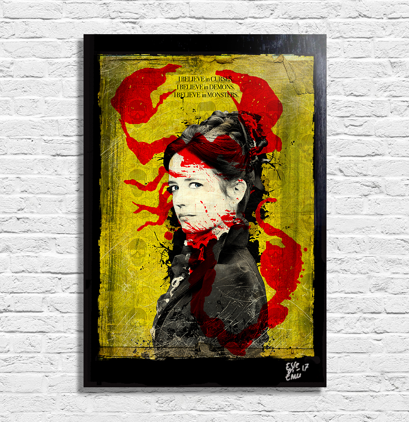 Vanessa Ives from Penny Dreadful Pop Art Painting