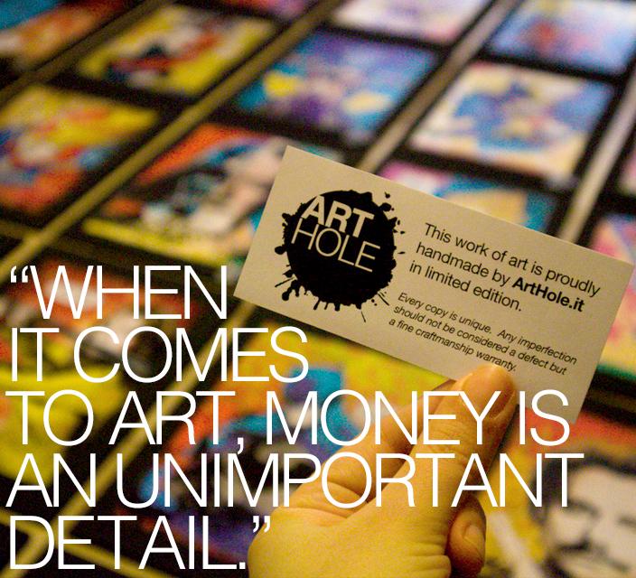 Arthole.it Quadri Pop-Art realizzati a mano, ispirati ai fumetti, film cult e fiction